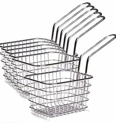 Mini Fries Frying Basket Fry Stainless Steel Chip Potato - Set of 6