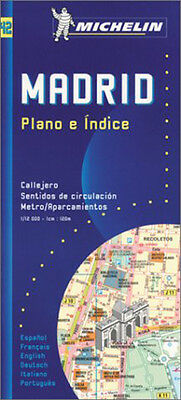 Madrid. Plano e indice 1:12.000 multilingue Mappa -Michelin- Nuova in Offerta!