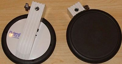 Roland PD7 Electronic Drums Dual Zone tom snare cymbal pad x 4