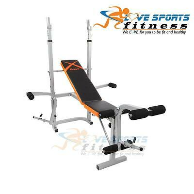 Adjustable Home Gym Fitness Rack Multi Station Weight Bench Press Exercise Stand