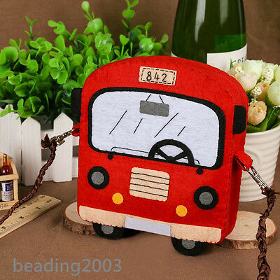 1Set Non-Woven Polyester Embroidery Needle Felt DIY Craft Making Bus Haversack