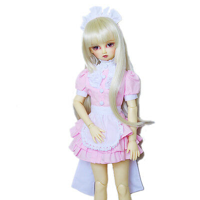 [wamami] 220# Cosplay Pink Maid Uniform/Outfit Set For 1/4 MSD AOD DOD BJD Doll