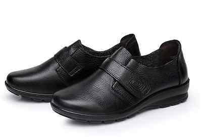 AU SZ 8.5 Women's Black Leather Upper Comfort Slip-on Nursing Work Casual Shoes