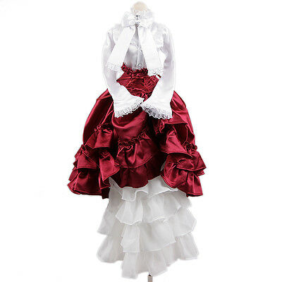 [wamami] 109# White-Red Dress/Clothes/Suit/Outfit For 1/3 DD DDM DDL BJD Dollfie
