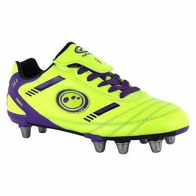 Optimum New Tribal Rugby Boot SNR - Yellow/Purple