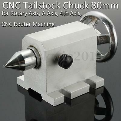 CNC Tailstock Chuck For Rotary Axis 4th Axis A Axis Router Machine Engraving