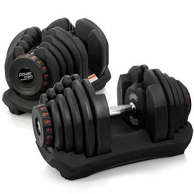 2 X 40KG Pair Dumbbell Weight Plate Set Fitness Home Gym Exercise Adjustable