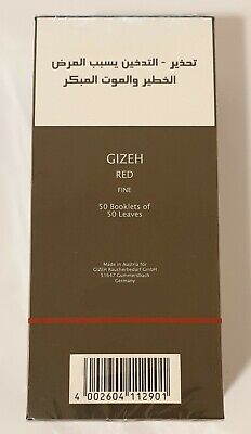 Gizeh Closed Box of 50x50 Booklets Hemp Rolling Papers Fine 18.5 g/m 50 Leaves