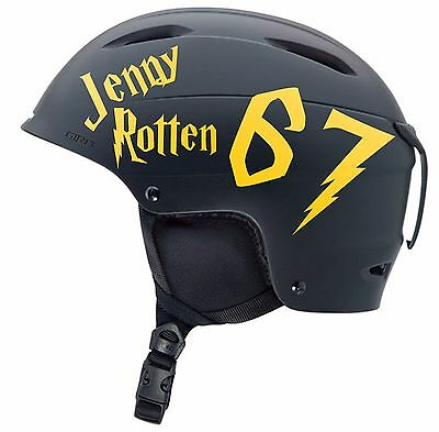 Complete Set Of Personalised Roller Derby Helmet Number & Name Stickers