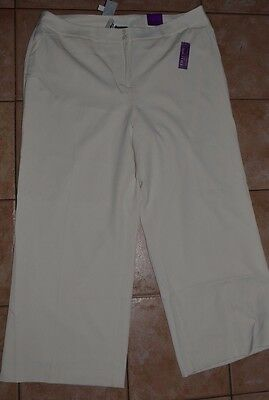 edf7fa5ee2d Lane Bryant Houston Tailored Stretch Wide Leg Ivory Dress Pants Size 24  2