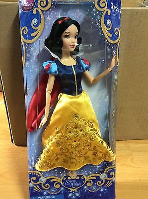"""DisneyStore 12"""" Princess Snow White Classic Doll Toy 12"""" New In Box"""