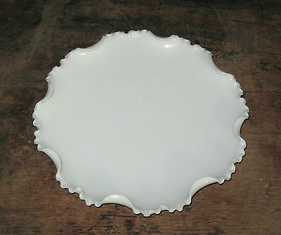 """19th C Willets Belleek 9 1/8"""" round plate w finely ruffled rim"""