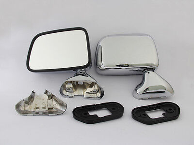 2 Pieces Chrome Side Door Mirrors Left Right Pair New 1988-04 Toyota Hilux Ln Rn