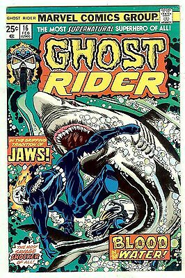 Ghost Rider #16 (Marvel 1976; vf/nm) Guide value in this grade $20.00 (£16.00)