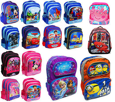 New Large Backpack Kids School Bag Monster High Frozen Cars Paw Turtle Minion