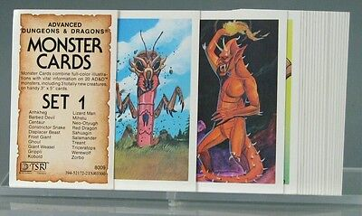 Advanced Dungeons and Dragons Monster Cards Set 1