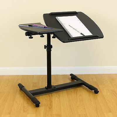 Black Fully Adjustable/Moveable Over Bed Table Mobility Aid Chair/Sofa/Hospital