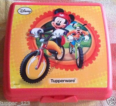 Tupperware Sandwich Keeper -Mickey n Goofy  - Kids Lunch Sandwich Keeper