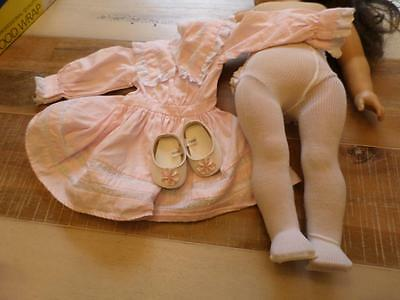 American Girl Nellie's Spring Party Dress Pink Shoes Tights Retired VHTF