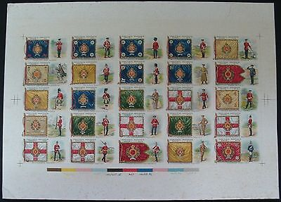 Taddy-Full Set On Uncut Sheet- Territorial Regiments - Exc