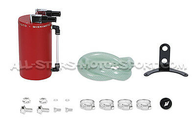 Oil Catch Tank Mishimoto Rouge - Mishimoto Red Large oil carch can MMOCC-LAWRD