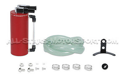 Oil Catch Tank Mishimoto Rouge - Mishimoto Red Small oil catch can MMOCC-SAWRD