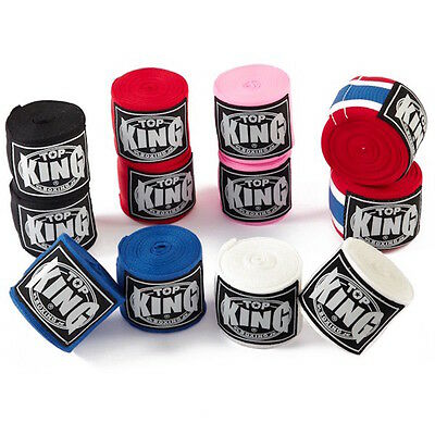 Top King Elastic Cotton Handwraps-4.5 Meters/177Inch-High Quality Stretch Cotton