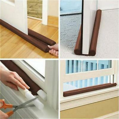 Twin Dual DOUBLE DRAFT DRAUGHT EXCLUDER Air Stopper Guard Door Insulator NEW -FI