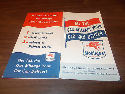 1951 Mobil 16-page Vintage Brochure / Mobilgas Economy Run and More/Great Pics