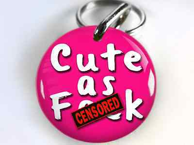 custom pet id tag dog tag cat tag humor funny cute censor diff color size avail