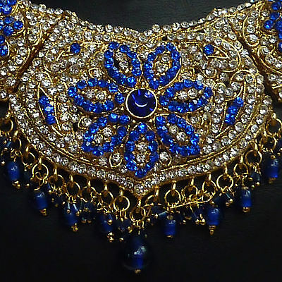 üppiges Schmuckset Nisha Kothari royal blue 56D