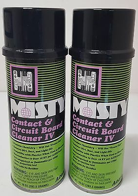 2 Misty Electronics Electrical Contact Circuit Board Cleaner 2 Cans   A369