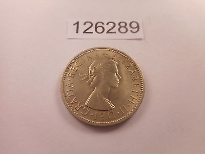 1961 Great Britain Two Shillings - Nice Collector Grade Album Coin - # 126289