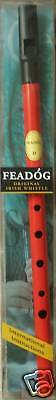 Genuine Original Irish Tin Whistle in Red by Feadog, F10