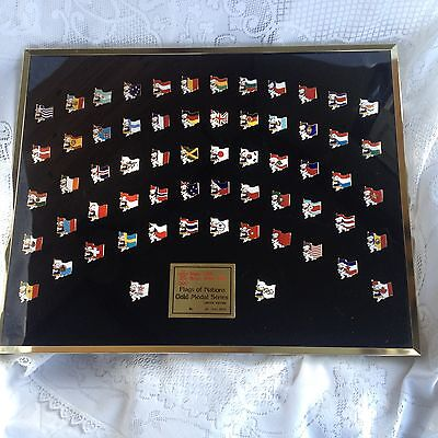 """XV Olympic Winter Games Calgary 1988 Pin Set """"FLAGS OF THE NATIONS"""" (158)"""