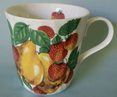 Staffordshire crown Trent 1 coffee cup mug pears strawberries fruits white nice