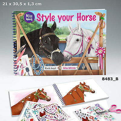 New Miss Melody Style Your Horse-Colouring/sticker Book