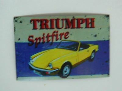 Triumph Spitfire Fridge Magnet 50mm x 75mm Retro/Vintage Design