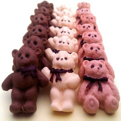 20 Edible sugar decorations for christening baby shower  teddy bears