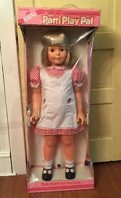 """MINT Vintage 1981 Patti PlayPal Life Size 35"""" Doll Sealed in Original Box Ideal"""
