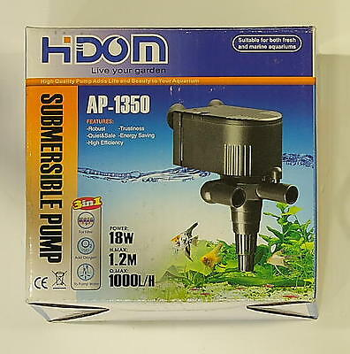 Aquarium Power Head HIDOM Water Pump  AP 1000L-H (AP-1350)