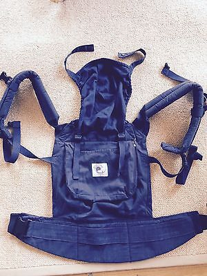 ERGO BABY,  ORGANIC BABY CARRIER 3 Position Navy Cotton