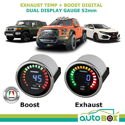 Electronic Digital Boost and Exhaust Temp Gauge Combo Pyro - Diesel or Petrol