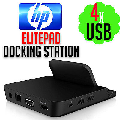 HP C0M84AA Elitepad Docking Station Port Replicator Computer Desktop Laptop PC