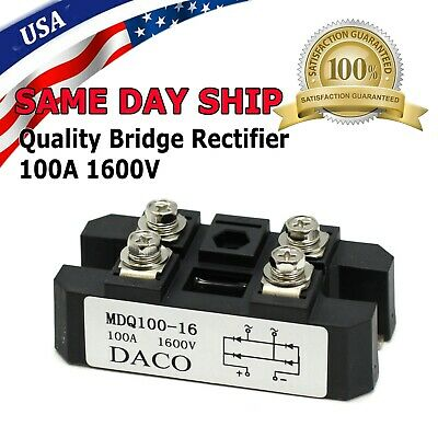 MDQ 100A Amp 1600V Volt Single 1 Phase Diode Metal Case Bridge Rectifier TS