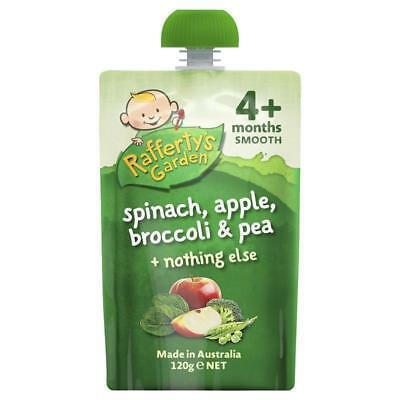 Raffertys Garden 4+ Months Spinach Apple Brocoli & Pea 120g