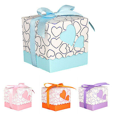 30pcs Love Heart Small Laser Cut Gift Candy Boxes Wedding Party Favor  PK