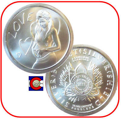 "2013 SBSS ""Love"" Silver Coin - Silver Bullet Silver Shield in airtite"