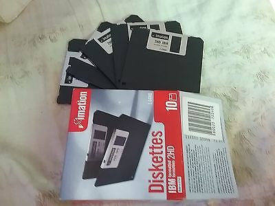 imation diskettes 1.44mb 5 in box made in u.s.a.