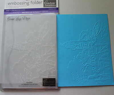 """Embossing Folder Couture Creations 5"""" x 7"""" - GREAT LAZY DAYS"""